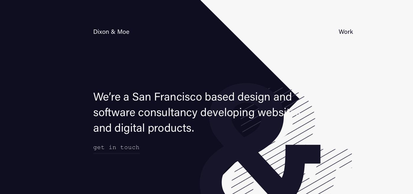 Minimalista webdesign