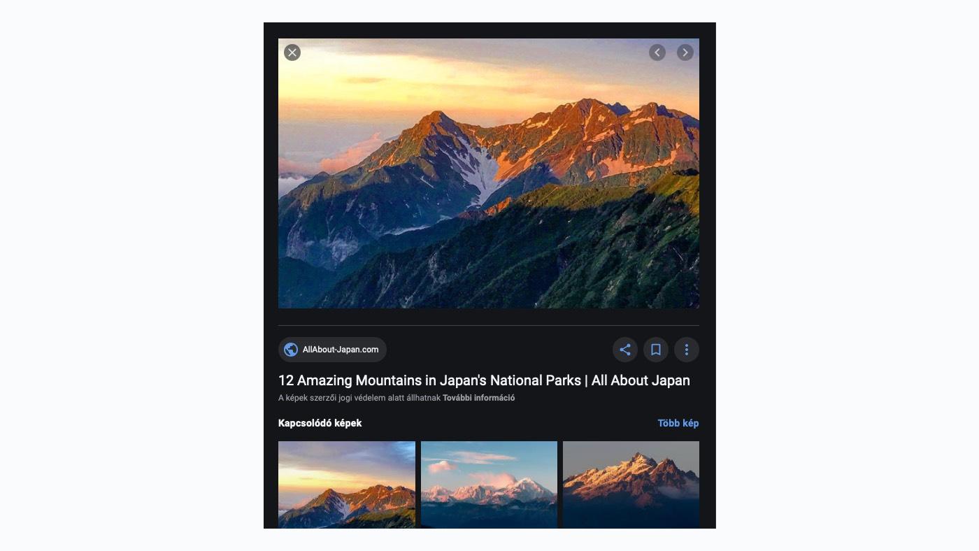 Google képek képalapú keresés