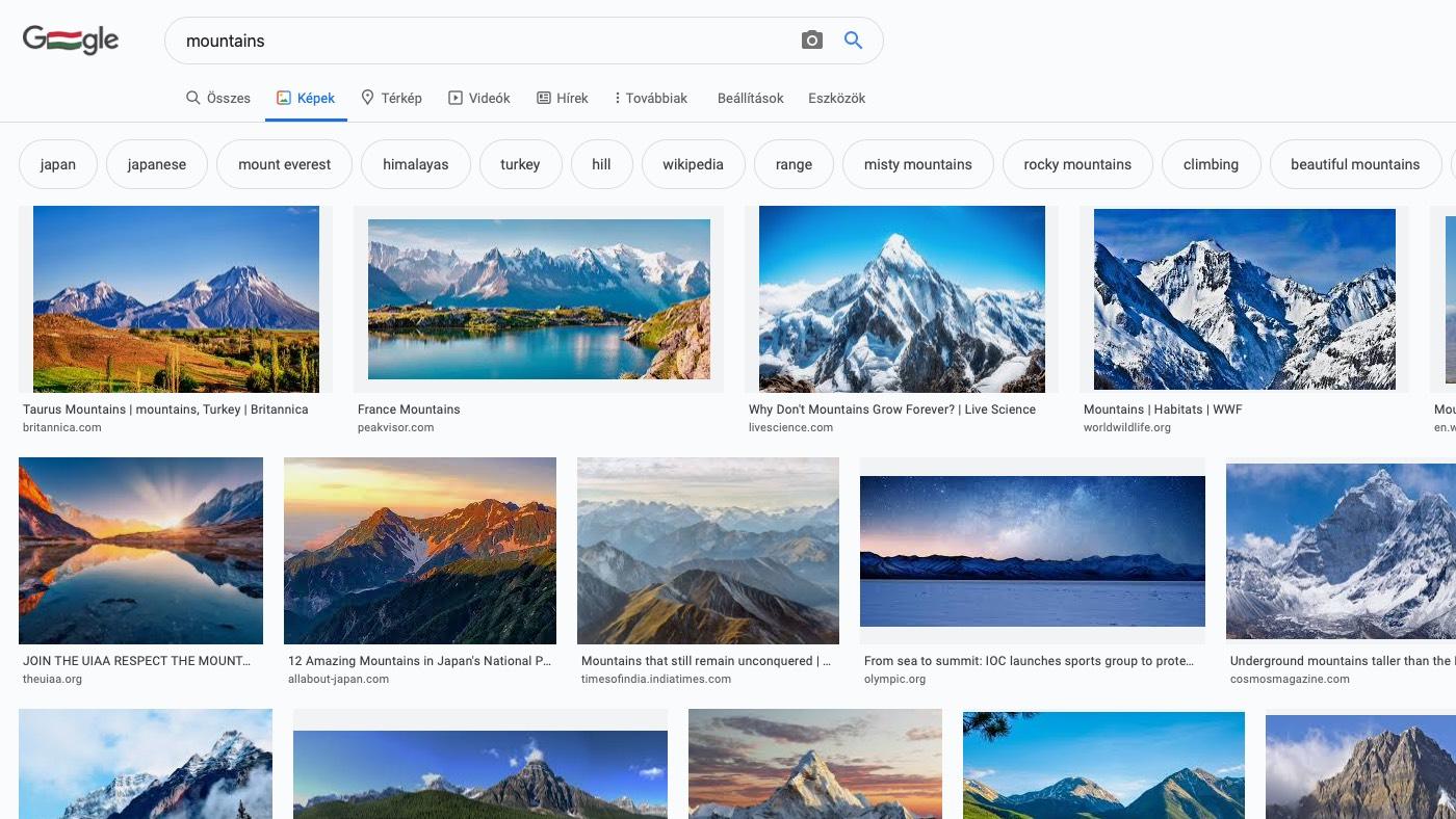 Google képalapú keresés