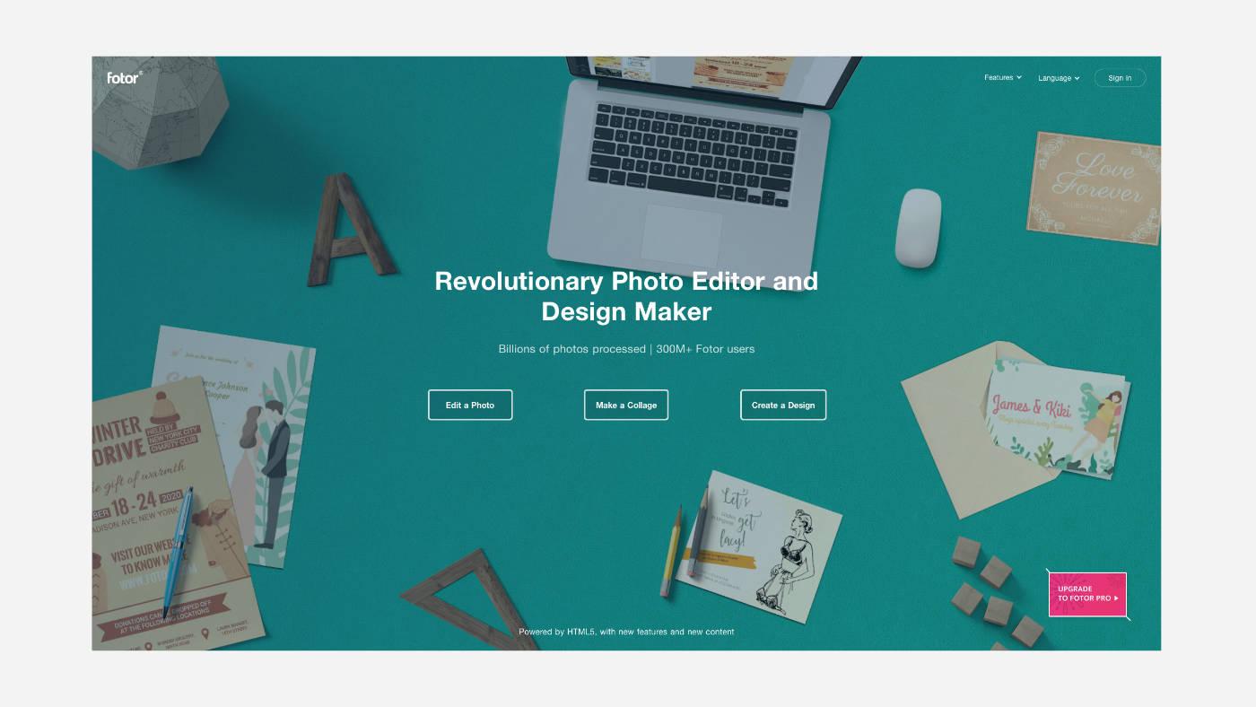 Fotor ingyenes online képszerkesztő program