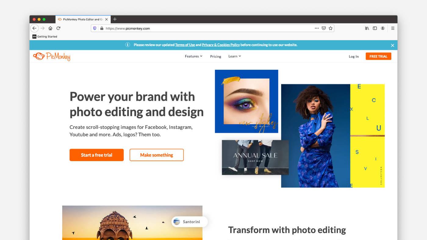 PicMonkey ingyenes online képszerkesztő program