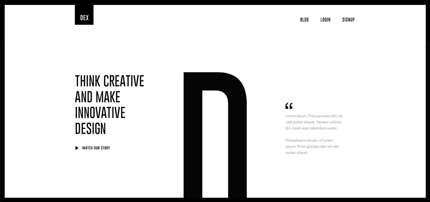 Minimalista tipográfia