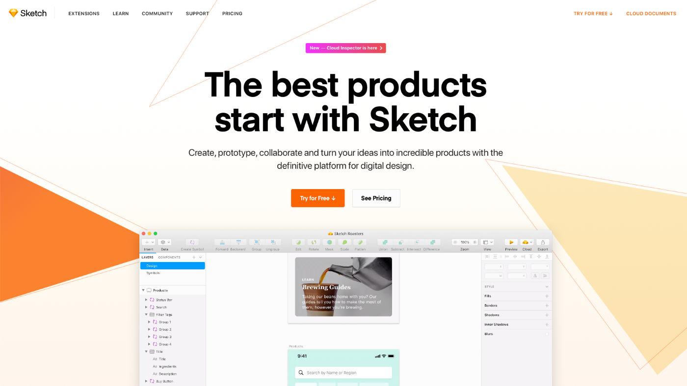 Sketch digitális (UI/UX) tervező szoftver