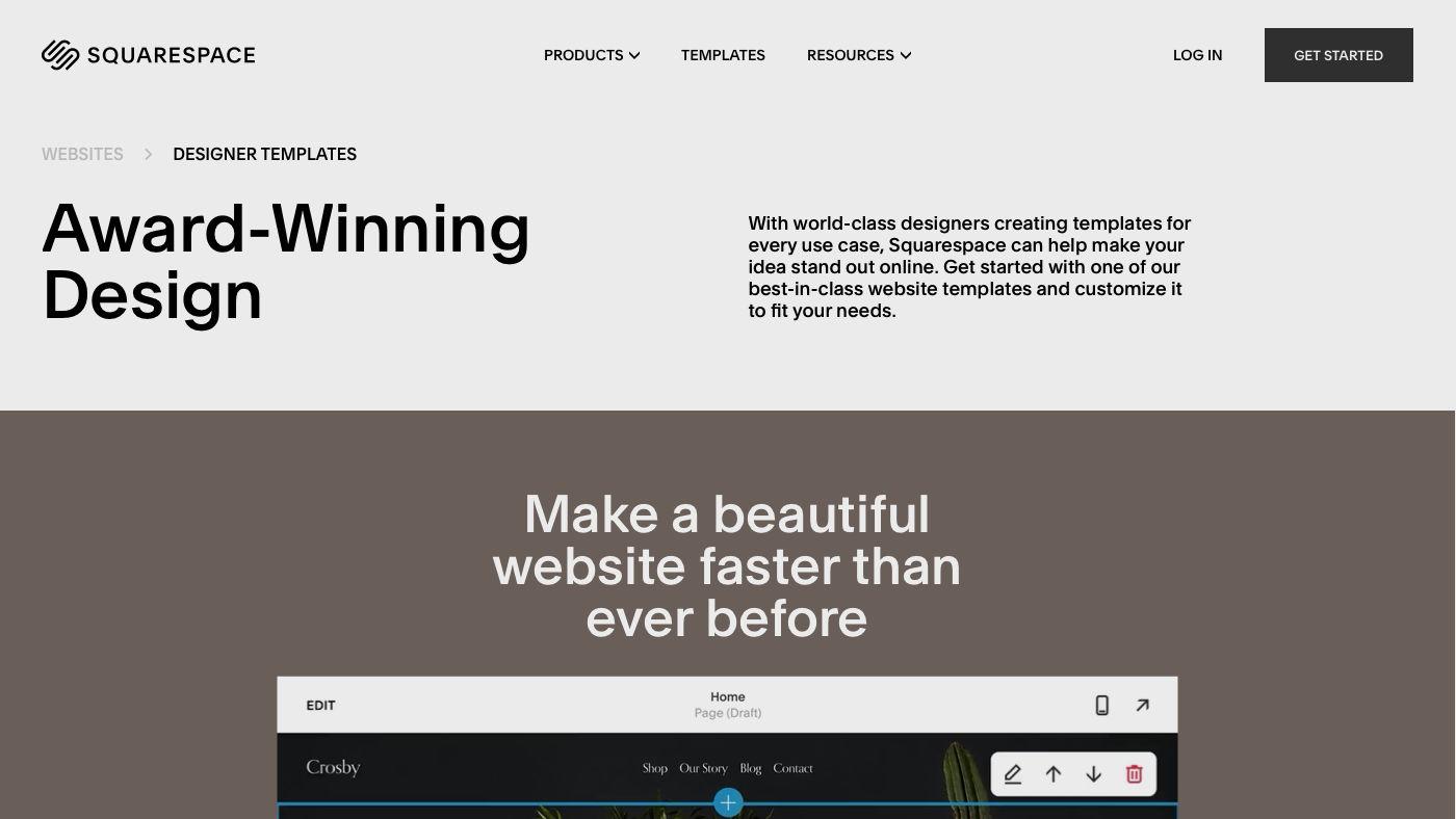 Squarespace weboldal készítés