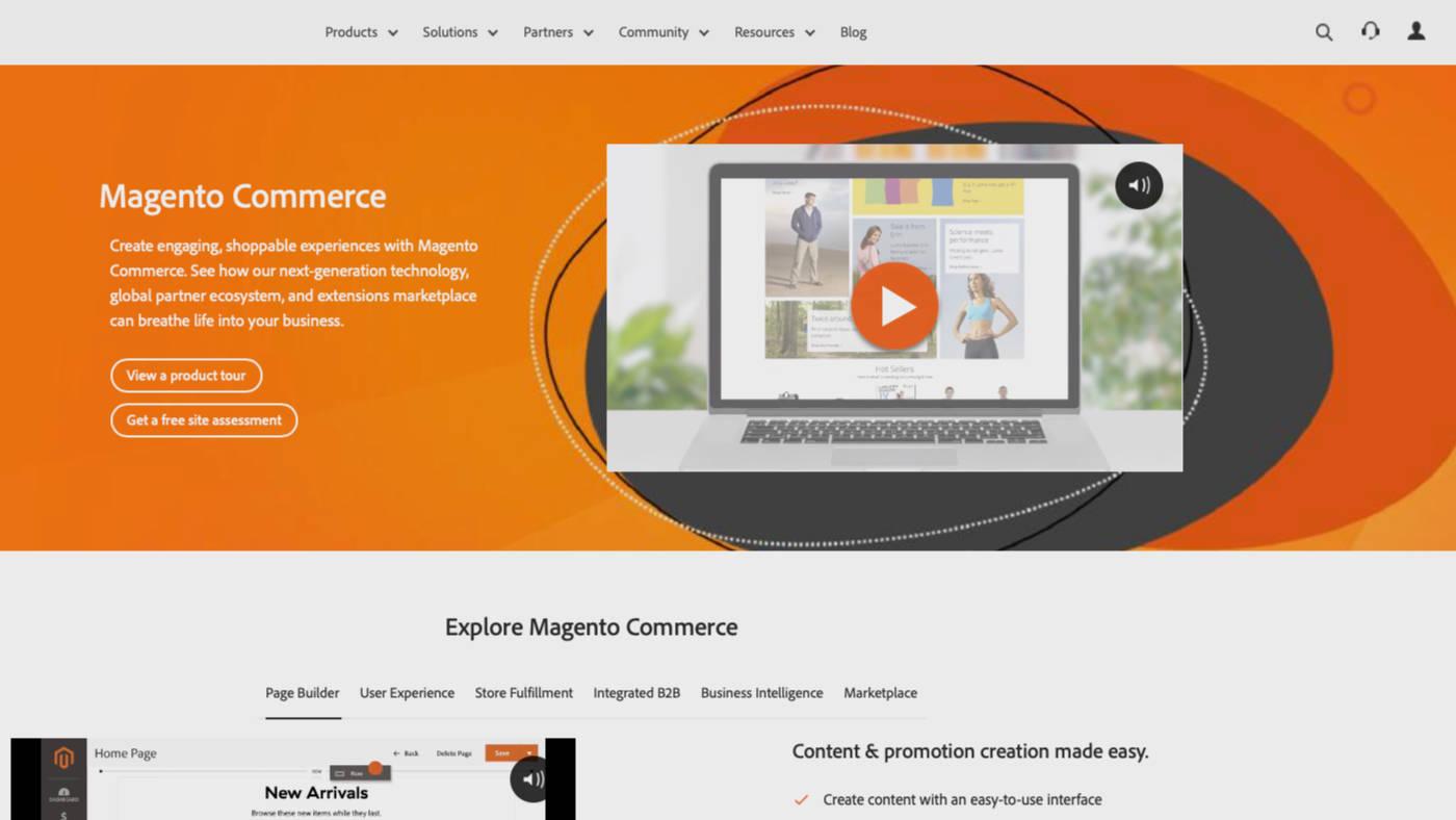 Webshop készítés Magento