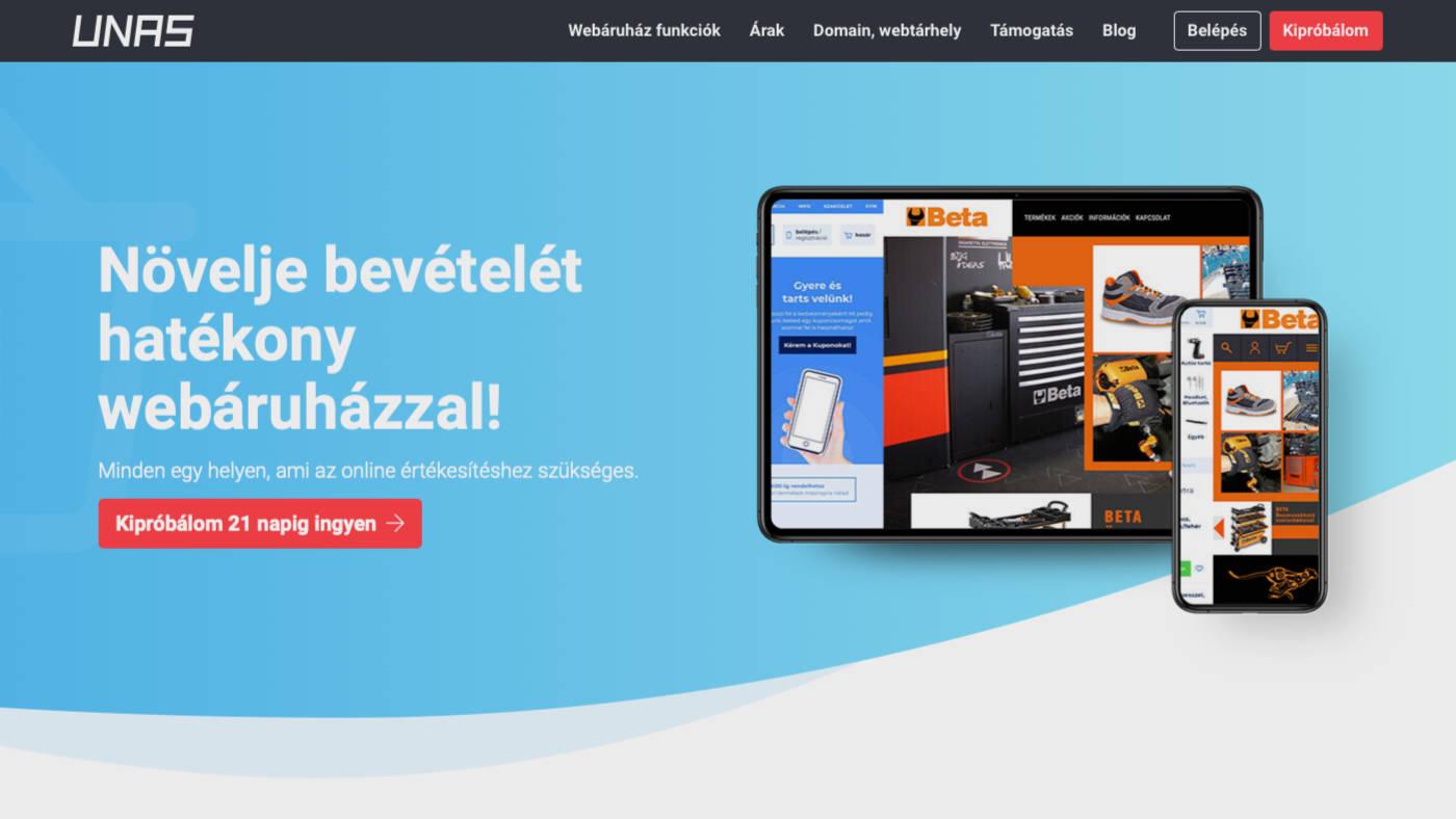 Webshop készítés UNAS