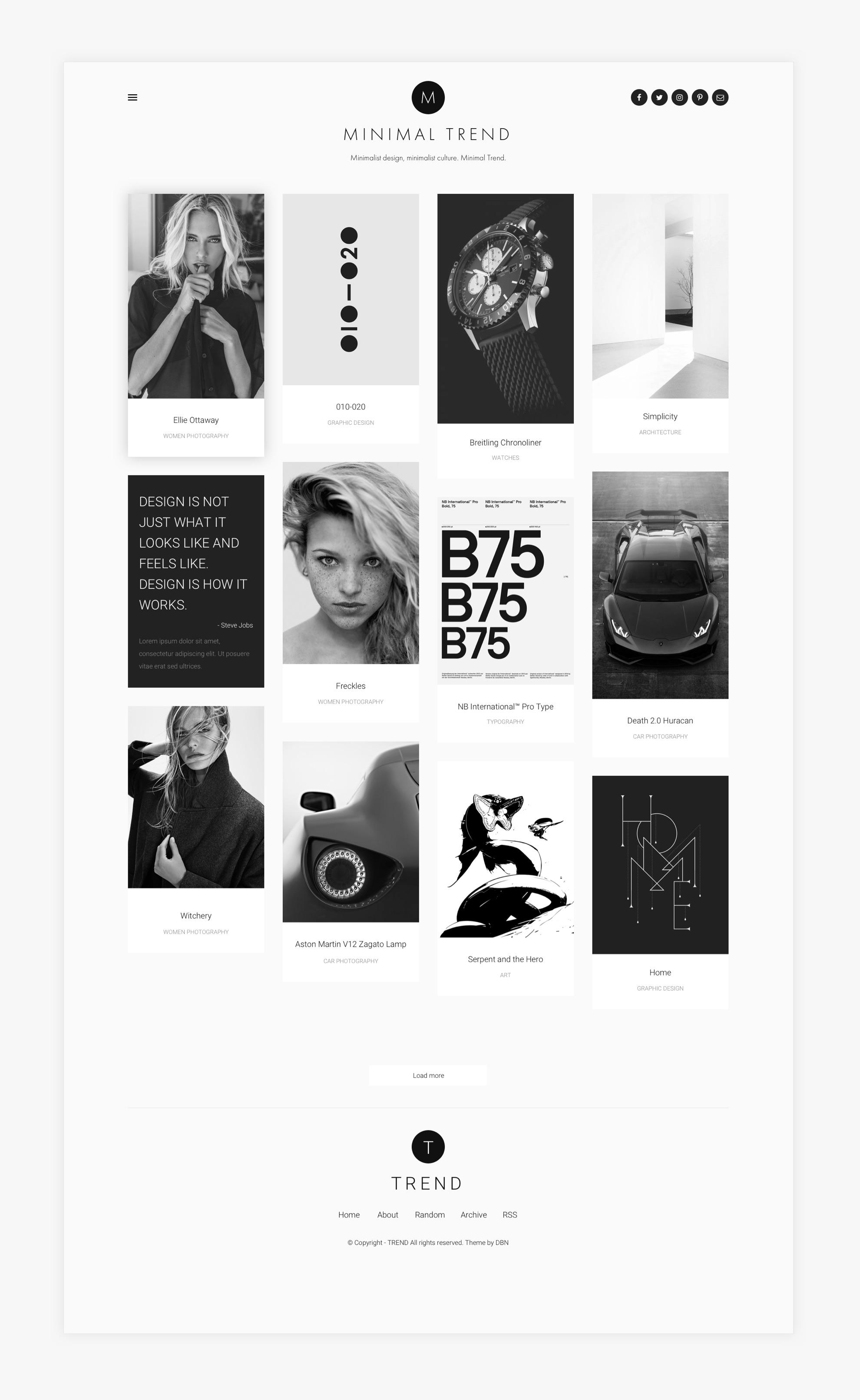 Minimal Trend - Reszponzív webdesign - Üzleti reszponzív weboldal készítés