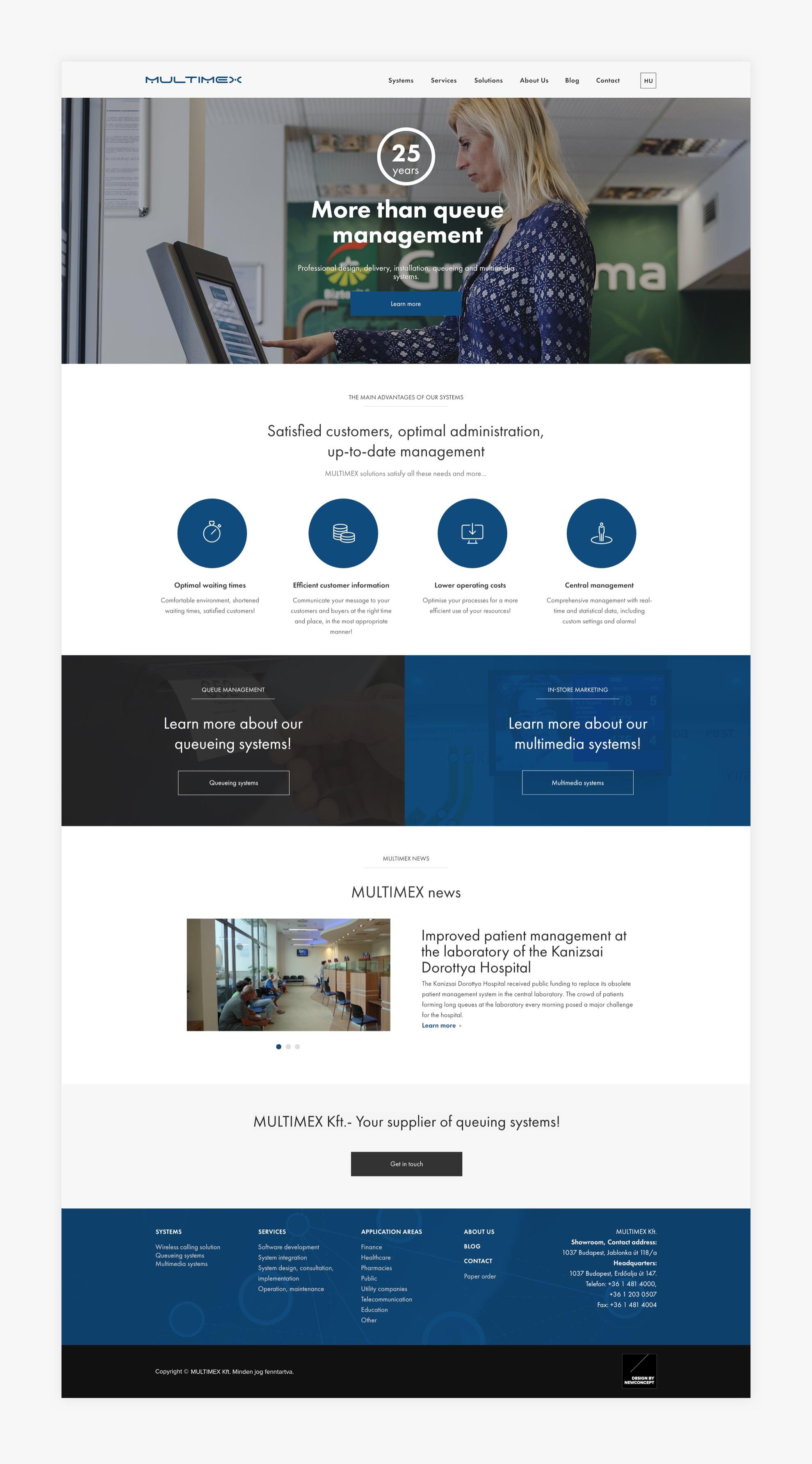 Multimex - Reszponzív webdesign - Üzleti reszponzív weboldal készítés