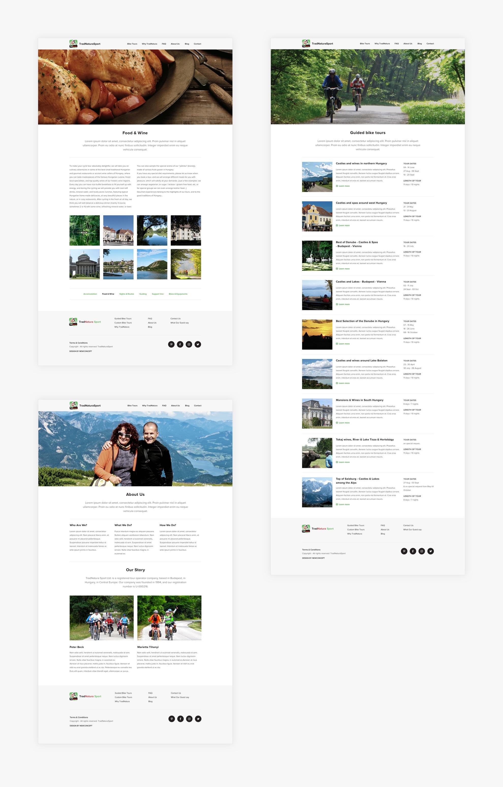 TradnaturaSport - Reszponzív weboldal - Üzleti reszponzív weboldal készítés