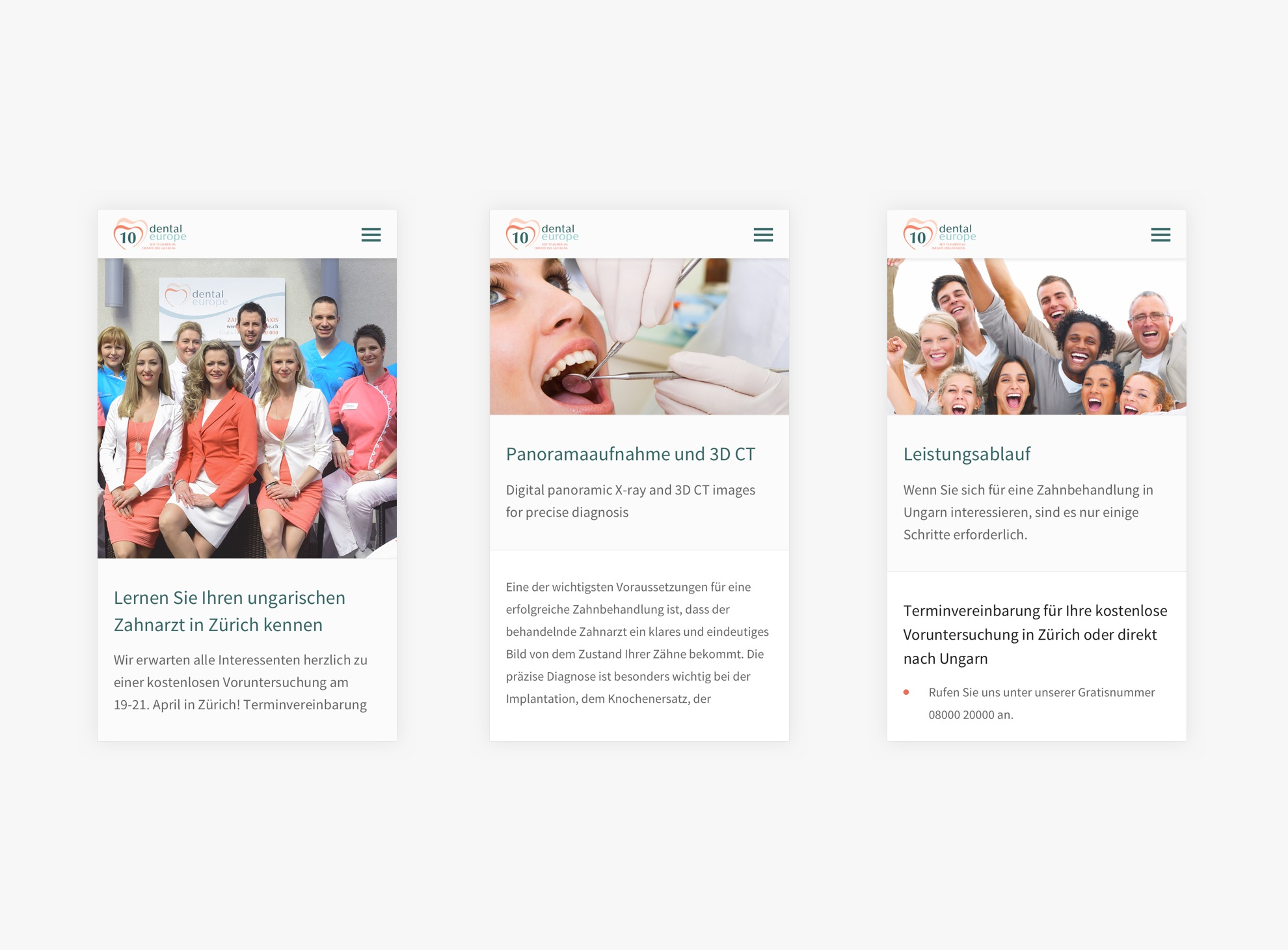 Zahnarzt in Ungarn - Reszponzív weboldal - Üzleti reszponzív weboldal készítés