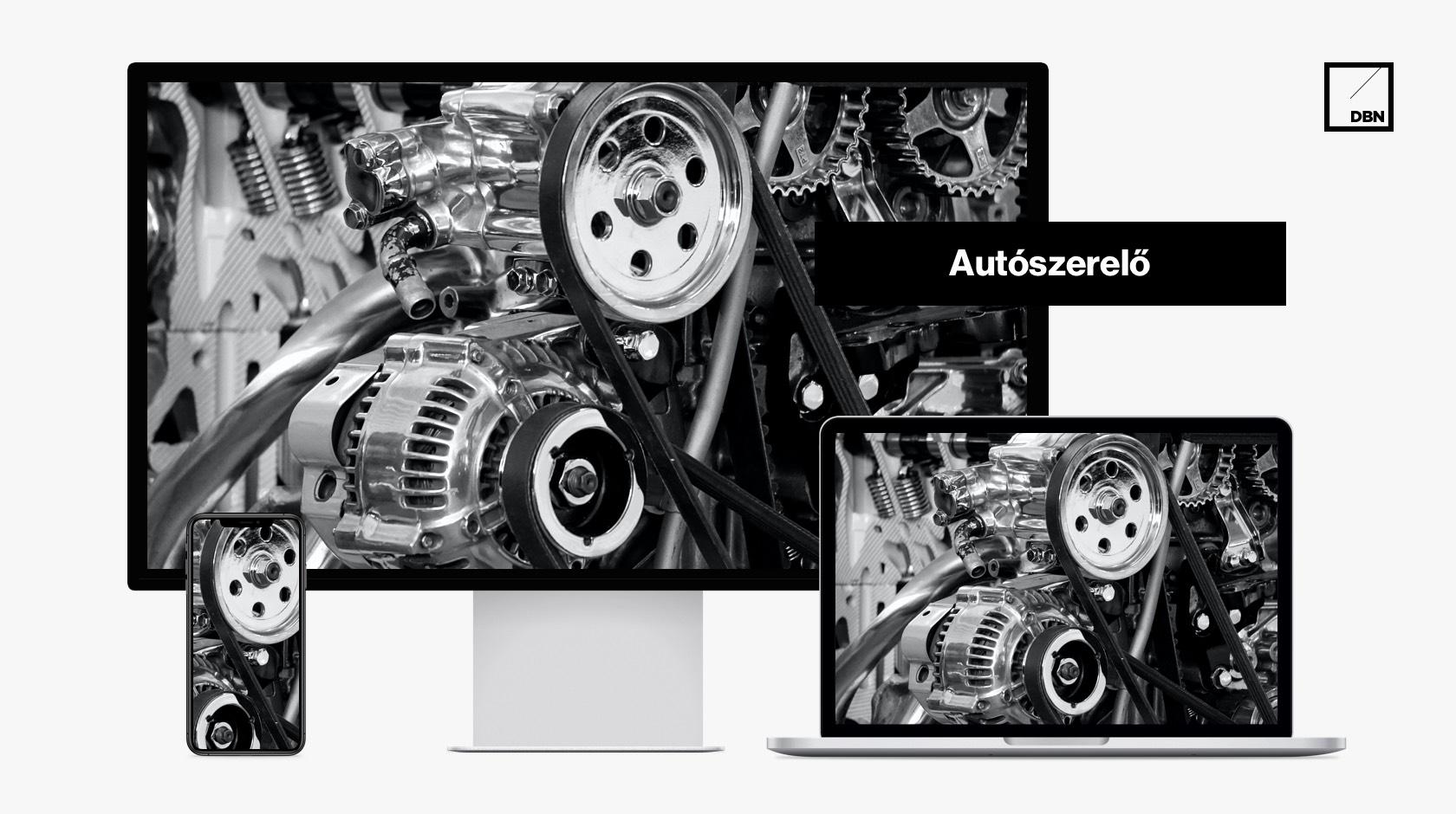 Autószerelő, autószervíz weboldal készítés