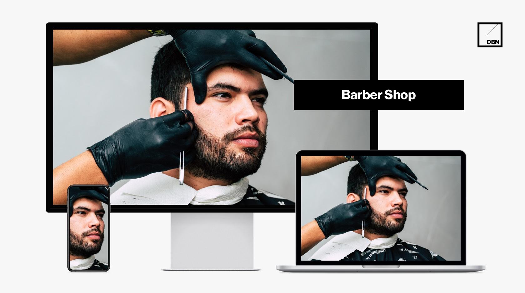 Barber Shop weboldal készítés