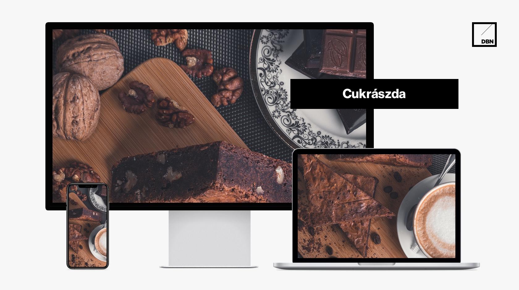 Cukrászda weboldal készítés