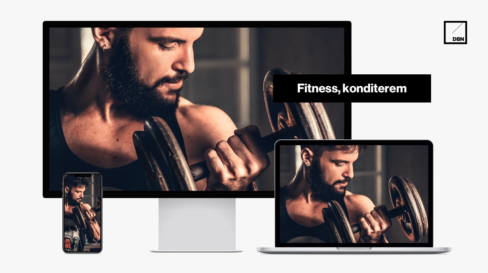 Fitness, konditerem weboldal készítés