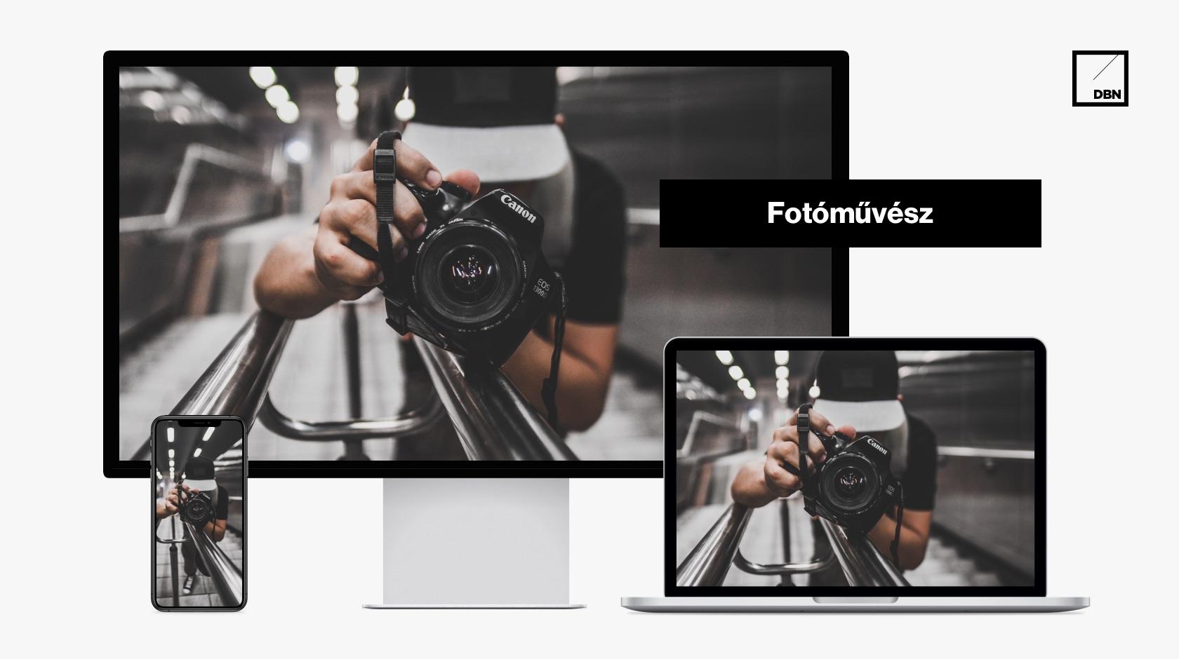 Fotós weboldal készítés