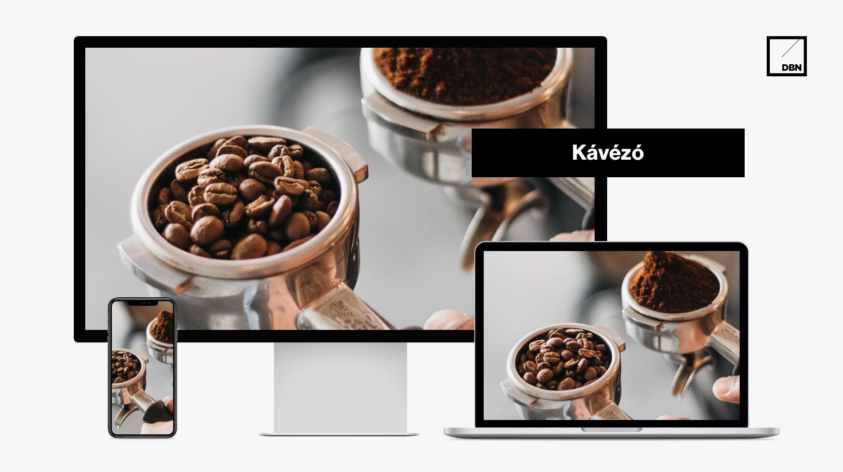 Kávézó weboldal készítés