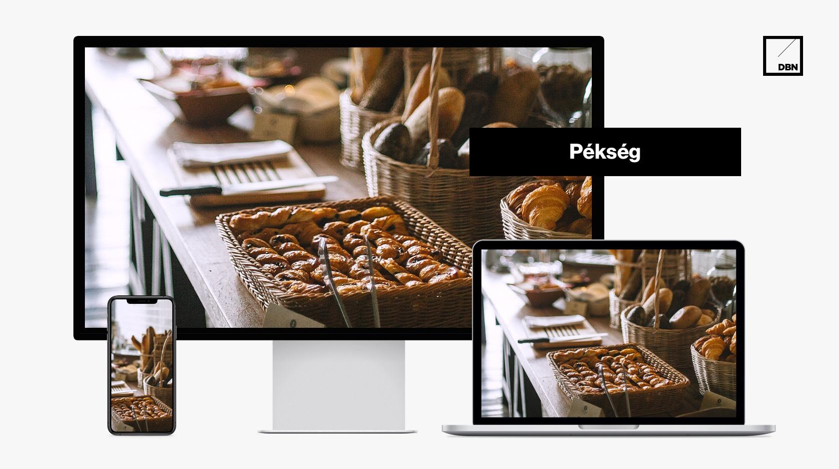 Pékség weboldal készítés