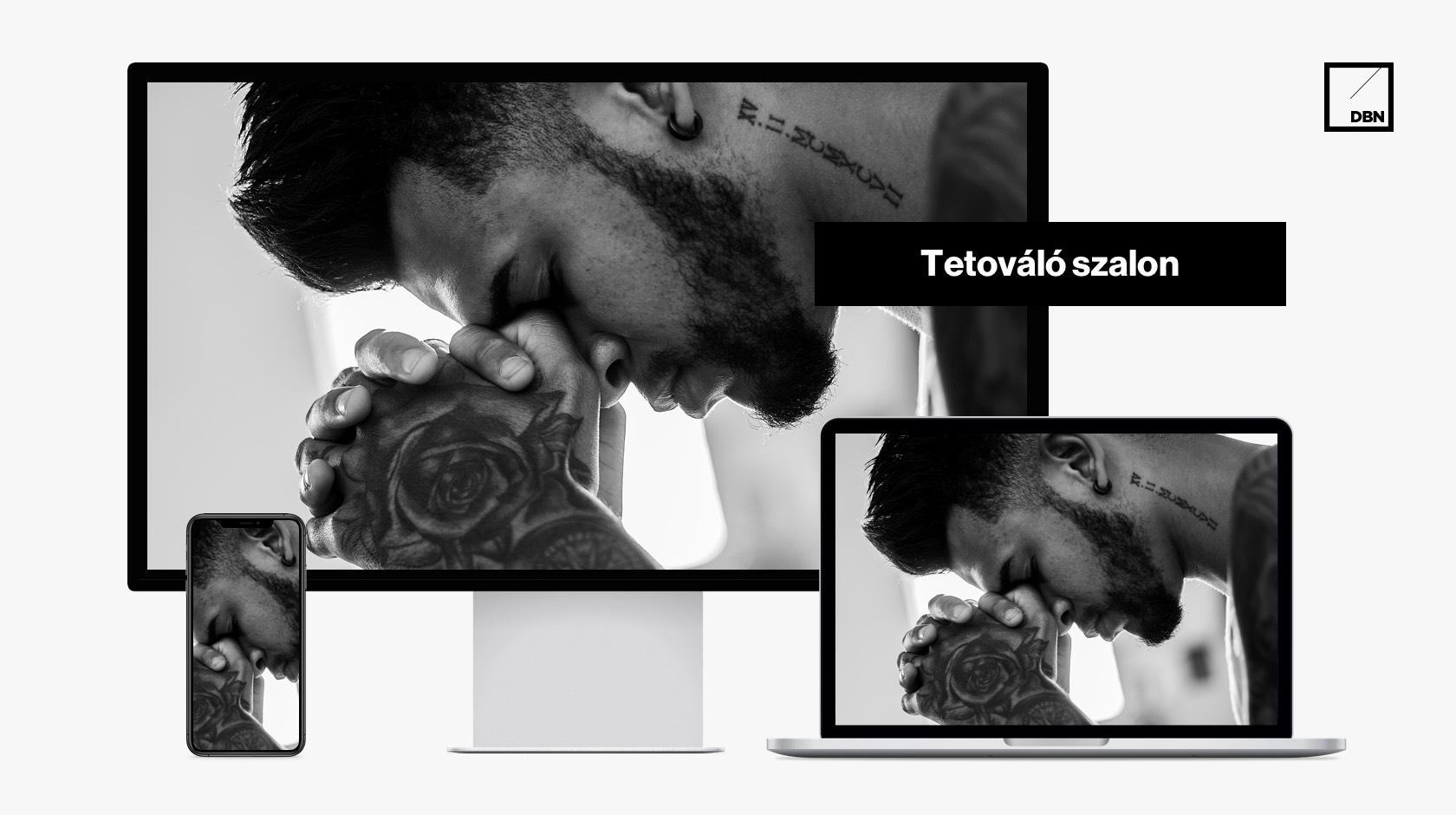 Tetováló szalon weboldal készítés